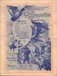 Cover of souvenir programme benefit given by the Columbia, Orpheum, California, Alcazar, Tivoli, Grand Opera House and the Chutes Theater for the reception of the returning United States volunteers at the Orpehum Theater on Thursday Aug.17th 1899