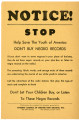 Help Save the Youth of America Don't Buy Negro Records