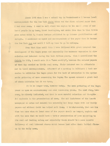 Memorandum on the Negro press