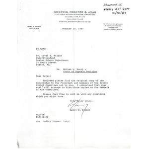 Letter, Morgan v. Nucci - Court of Appeals decision