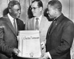 Jackie Robinson receives scroll