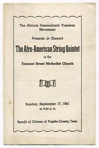 Afro-American string quartet program