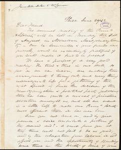 Letter from James Miller M'Kim, Phila[delphia, Pa.], to William Lloyd Garrison, June 30 / [18]42