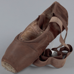 Toe shoe and tights worn by Ingrid Silva of Dance Theatre of Harlem