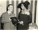 Marian Anderson Receives Award at a Pyramid Club Art Exhibition