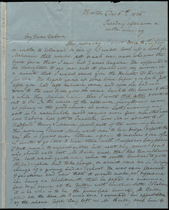 Letter from Anne Warren Weston, Boston, to Deborah Weston, Dec. 6th, 1836, Tuesday afternoon or rather evening