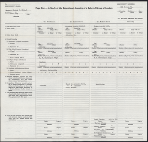 Student family histories: Draper, Gladys Arnold (Carter)