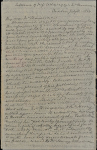 Letter from Mary Anne Estlin, Clevedon, [England], to Louis Alexis Chamerovzow, 1854 July 31