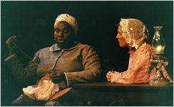 "Bernadine Mitchell and Janet Metzger in Beverly Trader's ""Zion,"" Atlanta, Georgia, April 29, 1990"
