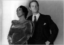 """Vanessa Shaw (Left) and Mark Lang (Right), publicity photo for """"Marian Anderson: A Credit to the Race,"""" by Vanessa Shaw, at 7 Stages Theatre, Atlanta, Georgia, November 3 - 7, 1999"""