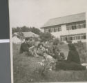 Students from Ibaraki Christian College Relaxing after Lunch, Ibaraki, Japan, ca.1948-1952