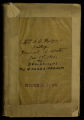 Elvira Cecelia Sheridan Badger diary, 1901