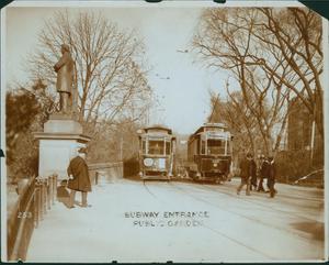 Subway entrance, Public Garden, Boston, Mass
