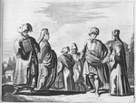 [A group of people wearing ornate clothing.]