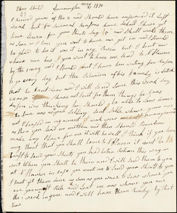 Letter from Clarissa Bodwell Phelps Tryon, Farmington, [Connecticut], to Amos Augustus Phelps, 1830 May 17th