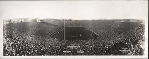 Formal opening of the new Michigan Stadium, Ann Arbor, October 22, 1927, Ohio State University vs. University of Michigan