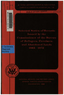Selected series of records issued by the commissioner of the Bureau of Refugees, Freedmen, and Abandoned Lands, 1865-1872