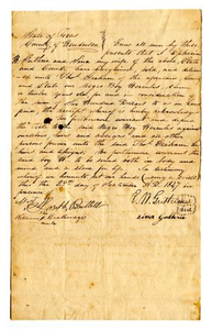 [Agreement for sale of slave named Hercules]
