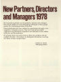 New partners, directors and managers 1978