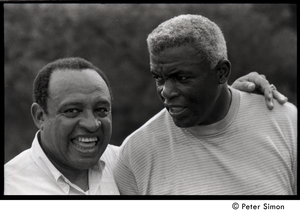 Jackie Robinson and Lionel Hampton (r. to l.)