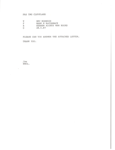 Fax from Mark H. McCormack to Bev Norwood