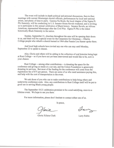 Letter from Gloria Xifaras Clark and Larry Rubin to Civil Rights Workers