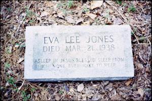 [Grave of Eva Lee Jones, Marshall]