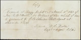 Charles B. Johnson correspondence, business records and receipts, Mar.-Dec. 1863