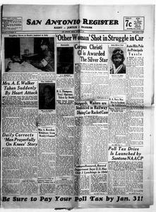San Antonio Register (San Antonio, Tex.), Vol. 14, No. 49, Ed. 1 Friday, January 5, 1945 San Antonio Register