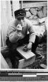 Carpenter smoking a pipe, Japan, ca. 1937