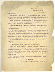 Circular letter from L. M. Hershaw