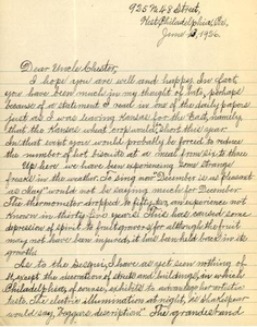 Letter from William Crogman to Chester Franklin