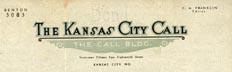 The Kansas City Call Stationery