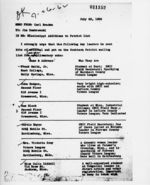 Memorandum: to Jim Dombrowski, 1962 July 23
