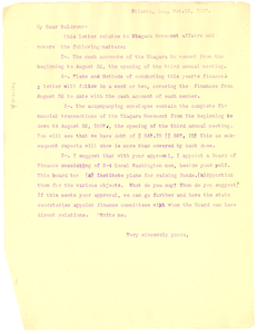 Letter from W. E. B. Du Bois to J. Milton Waldron