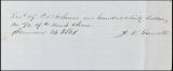 Charles B. Johnson correspondence, business records and receipts, 1861