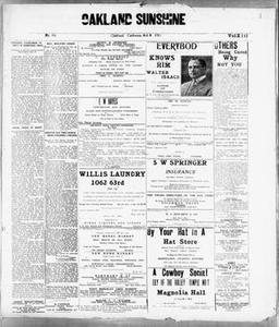 Oakland Sunshine (Oakland, Calif.), Vol. 13, No. 16, Ed. 1 Friday, October 8, 1915 Oakland Sunshine