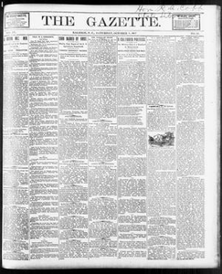 The Gazette. (Raleigh, N.C.), Vol. 9, No. 34, Ed. 1 Saturday, October 9, 1897 The Gazette The Weekly Gazette