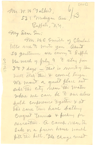 Letter from W. E. B. Du Bois to W. H. Talbert