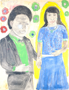 Untitled (Man in Black Suit, Girl in Blue Dress)