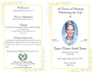 A service of memory, celebrating the life of Joyce Elaine Smith Jones, Saturday, April 26, 2014, 11:00 a.m., Saints Temple Church of God in Christ, Pastor Carol Pettis, officiating