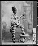 [Photograph of Stephen M. Wright in blackface, Macon, Bibb County, Georgia, ca. 1898]