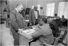 Nick Lambros, John Calhoun, Marvin Arrington, and E. Gregory Griggs