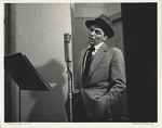 Frank Sinatra--NYC [in a New York City recording studio] [black-and-white photoprint,] 1956