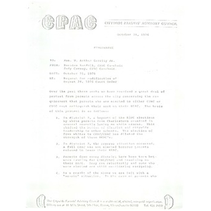 Memo, request for modification of August 24, 1976 court order