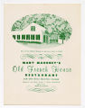 Mary Mahoney's Old French House Restaurant and Old Slave Quarters Lounge, menu
