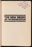 The new Negro : an interpretation / edited by Alain Locke ; book decoration and portraits by Winold Reiss.
