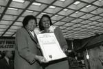 Mayme Clayton and Yvonne Brathwaite Burke at African American Living Legends Program