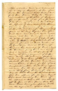 [Agreement for E.M. Pease's purchase of slave named Celia]
