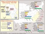 Origins of enslaved Africans in North America, 1600-1867